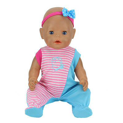 Cute fish jumpsuits+hairbrand Wearfor 43cm Baby Born zapf (only sell clothes)