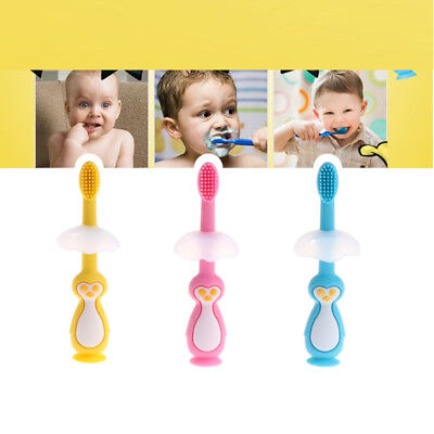 Silicone Kids Teether Training Toothbrush Infant Newborn Brush Tool teeth Care