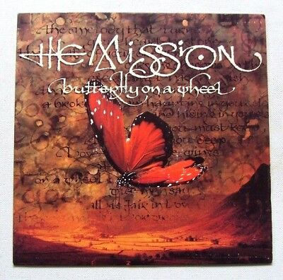 The Mission - Butterfly On A Wheel / The Grip Of Disease - 1989 MERCURY (EX/EX)