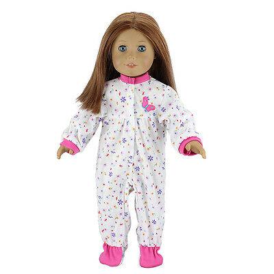 dot flower jumpsuit clothes for American girl doll of 18 inch doll accessories