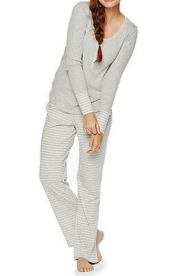 Oh Baby/Motherhood Pajama Set - Front Snap Top- Stretchy - Gray -XL - BRAND NEW