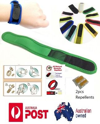 Best Anti Mosquito Bug Insect Repellent Bracelet Wrist Band 2x Repellent Refills