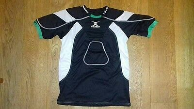 GILBERT ATOMIC ZENON RUGBY SHOULDER PADS XL Excellent condition! Black & white