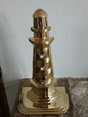 Nautical  BRASS  Stylish Table Top lighthouse bookends