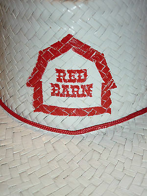 RARE! RED BARN RESTAURANT Cowboy Straw Hat w SIgn Drive In Fast Food