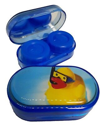 Summer Scene Mirror Case Contact Lens Soaking Storage Case UK MADE - Duck