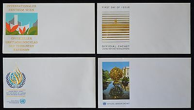 Lot de 4 enveloppes des Nations Unies vierges