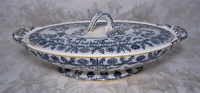 Antique 19th Century Copeland Late Spode Floral Porcelain Vegetable Dish Tureen