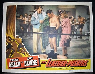 The Leather-Pushers 1940 11x14 Original U.S lobby card in Toploader