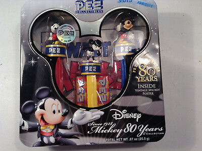 New Sealed Pez Collection 2007 Celebrates 80 Years Disney Mickey Mouse AWESOME
