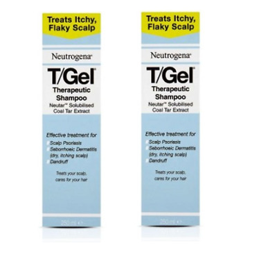 2x Neutrogena T/Gel Therapeutic Medicated Treatment Shampoo 250ml