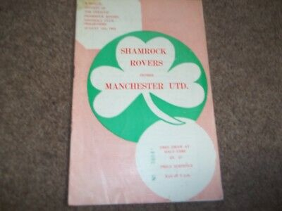 Shamrock Rovers V Manchester United Friendly 14Th August 1964