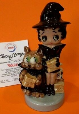 '99 Wade BETTY BOOP WITCH & PUDGY HALLOWEEN TRICK or TREAT Figurine LE 1000 Rare