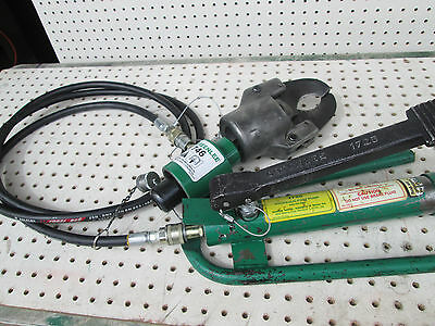 Greenlee 1725 Hydraulic Foot Pump Cable shear cutter Head Hose Unit Wire 751-M2