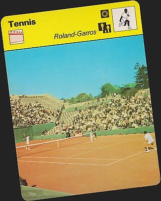 1978 Roland Garros Sportscaster Card #03 005 34-03 A Printing Nrmt-Mt From Cello