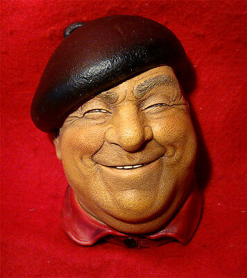 """Bossons """"pierre"""" Character Head Wall Hanging Cogleton England"""