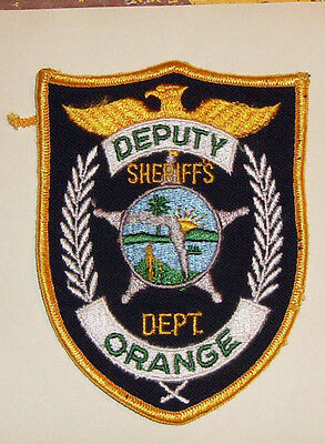 Vintage Orange Florida Sheriff's Dept. - Deputy