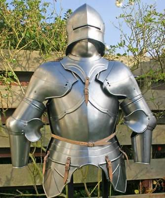 Gothic Half Armour Suit - Closed Sallet Helmet 15 century