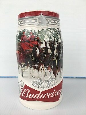Budweiser Clydesdales 2017 Holiday Stein - Damaged Box And One Chip On Stein