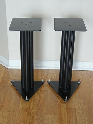 A Pair of High Quality Steel Speaker Stands with Spikes