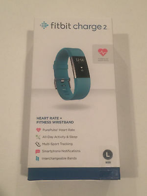 Fitbit Charge 2 Activity Tracker + Heart Rate (Large) - Teal