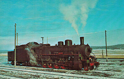 Postcard LOCOMOTIVE from series RUSSIAN DECAPODS for use in Siberia in WWII