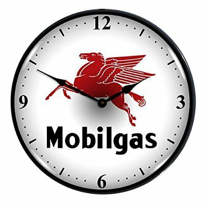 "Collectable Sign and Clock 710077 14"" Mobilgas Lighted Clock"