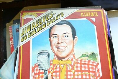 Jim Reeves    40  Golden Greats      Double Lp      Vg/ex  Con