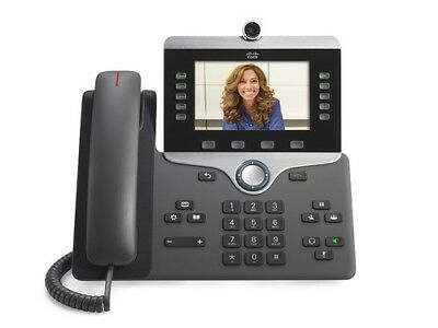NEW Cisco IP 8845 VoIP SIP LCD Display Gigabit Conference Phone (CP-8845-K9=)