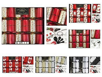 "Harvey & Mason 6 Pack 14"" Deluxe Exquisite Christmas Crackers Xmas Dinner Party"