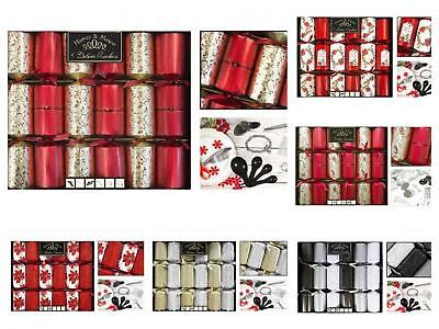 Harvey & Mason 6 Pack 14 Luxury Deluxe Exquisite Christmas Crackers Xmas Dinner