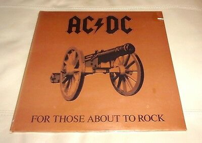 AC/DC For Those About to Rock Sealed LP 1981 Atlantic SD 11111