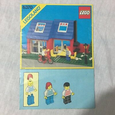 Lego 6370 Legoland Weekend Home Instructions / Manual 1985