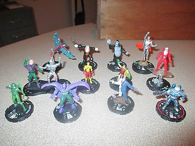 Dc Heroclix Assorted Lot Of 14 Grood Luthor Arrow Two Face