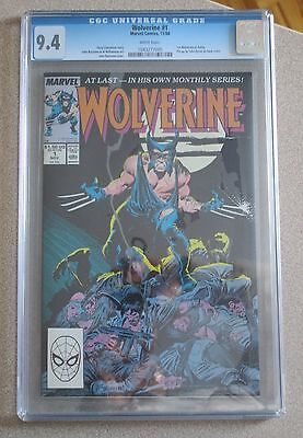 Wolverine #1 Cgc 9.4 Marvel 1St Wolverine As Patch John Buscema