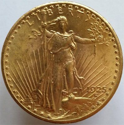 1925 Gold 20 Dollar Usa, Mint State, Lustrous