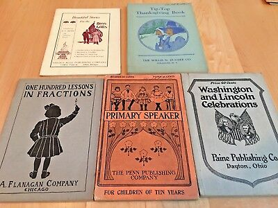 5 Antique Teachers' Manuals for Young Children