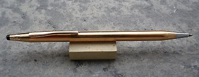 Ballpoint (Boligtrafo) Cross Mod. Century Classic Plaque Oro 14Kt Años 2000