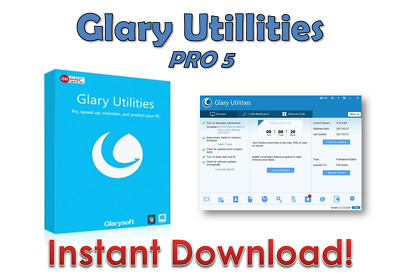 Glary Utilities Pro 5 LIFETIME LICENCE PRO VERSION INSTANT DOWNLOAD *WORLDWIDE*