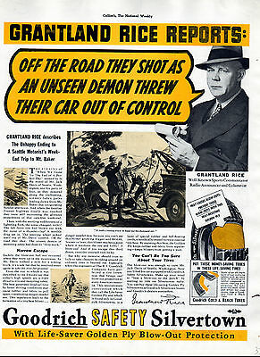 1937- Grantland Rice-Sports Writer,author- For Goodrich Tires ad ---997