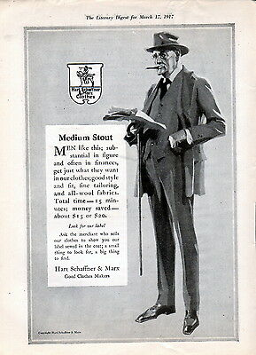 1917 Hart, Schaffner & Marx Clothing Ad ---z780