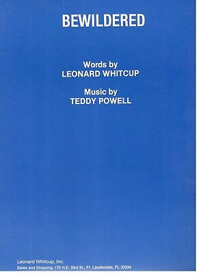 "Powell/whitcup ""bewildered"" Piano/vocal//chords Sheet Music-1966-New-Rare-Mint!!"