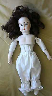 """Artist Reproduction French Antique Bisque head doll 15.5"""""""