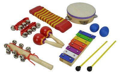 Children's Percussion Set with 7 Items by Bryce