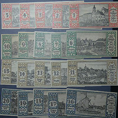 20 x Top Notgeld Berlin, die 20 Bezirke, M/G 92.1 , german emergency Money , kfr