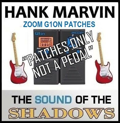 """ZOOM G1ON ART D'ECHO that Shadows 60s Echo Sound (settings only) """"NOT A PEDAL"""""""