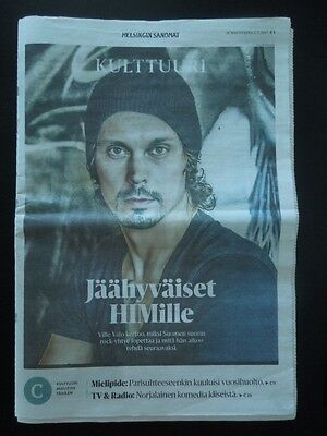 Finnish HS Newspaper 2.7.2017 HIM Ville Valo on cover