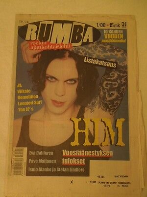 Finnish Rumba Magazine 1/2000 HIM Ville Valo on cover