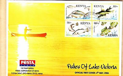 Kenya Very Rare Fdc Fish Of Lake Victoria (4Th Of May 2006)