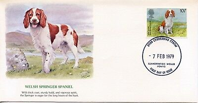 GREAT BRITAIN  1979 Dogs WELSH SPRINGER SPANIEL    FDC733